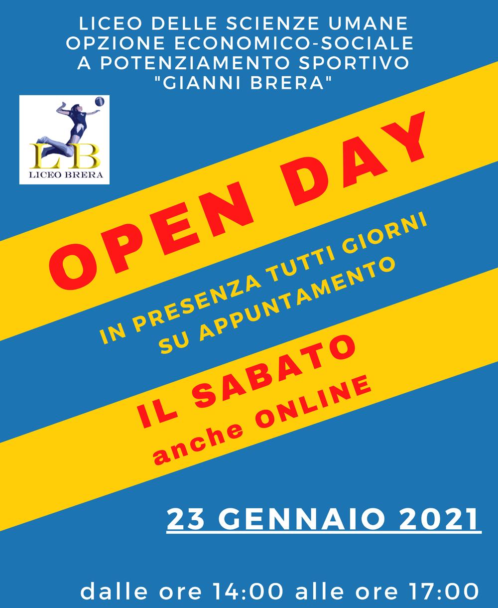 Open Days 2020-21