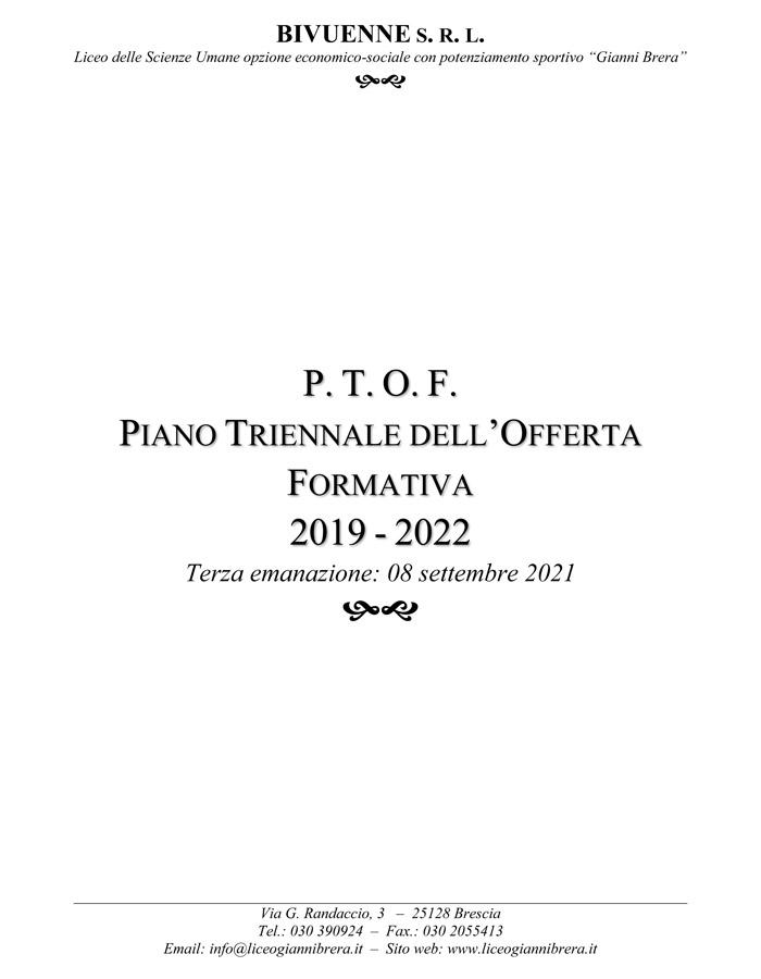 Ptof Liceo Gianni Brera 2021-22